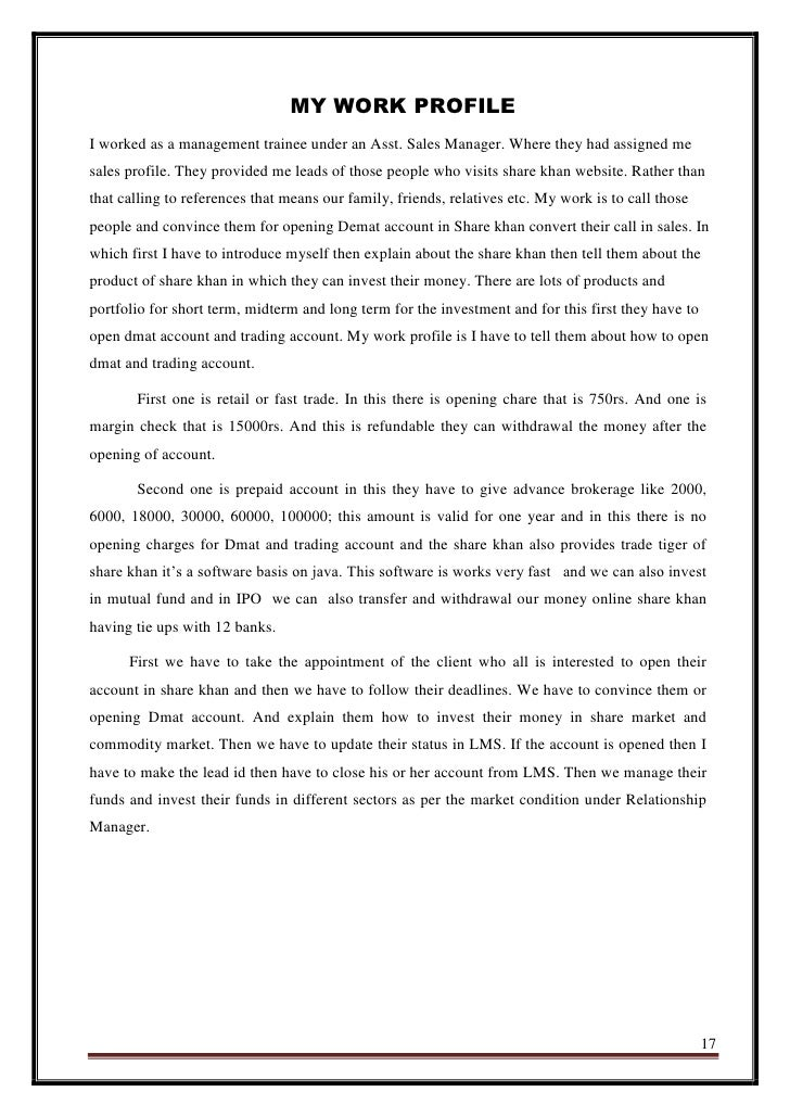 Share khan sip Research paper Example - August 2019 - 2944 words