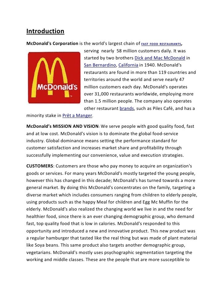 decision making mcdonald This swot analysis of mcdonald's corporation shows that the company must address diversification and process flexibility, as well as business expansion and innovation mcdonald's strengths (internal strategic factors) mcdonald's strengths make it a leading contender in the fast food restaurant market.
