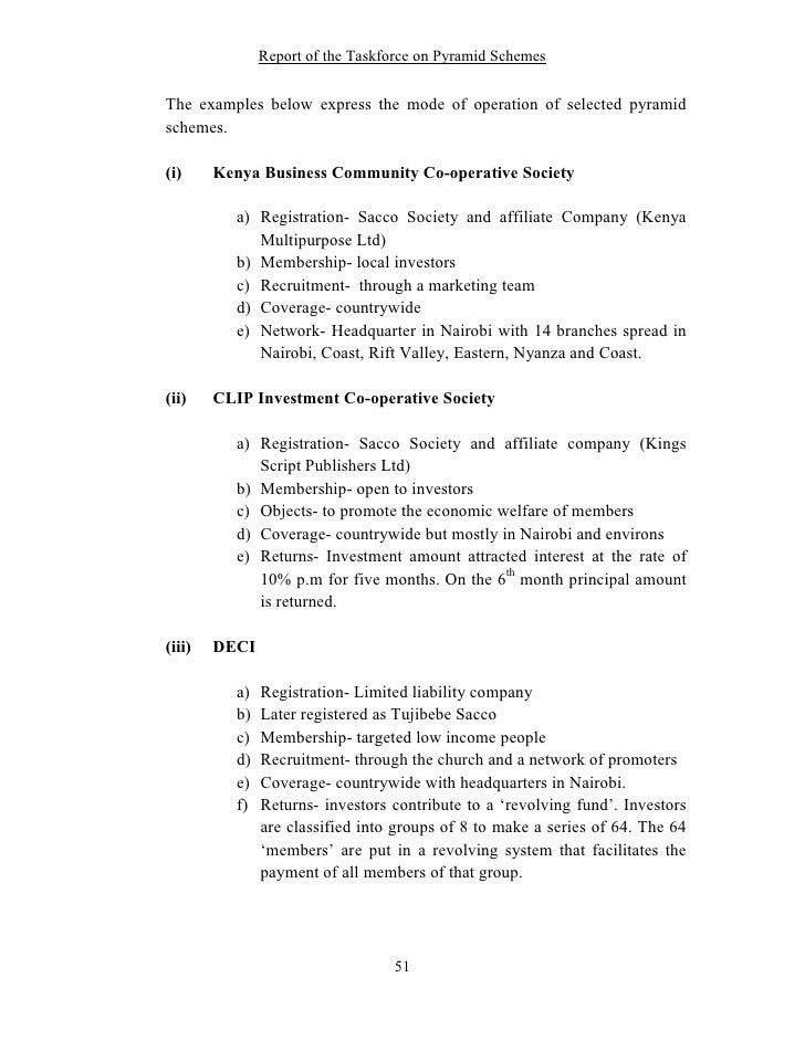 Report Of The Taskforce On Pyramid Schemes 51 728gcb1262422048