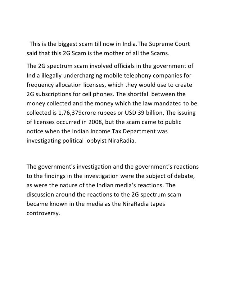 <br />                         This is the biggest scam till now in India.The Supreme Court said th...