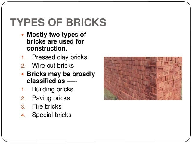Types Of Fire Bricks : Report on a building material bricks