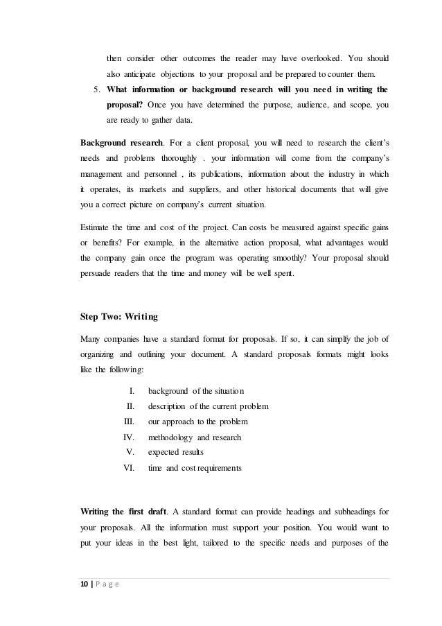 Report On Business Proposals Of Msd