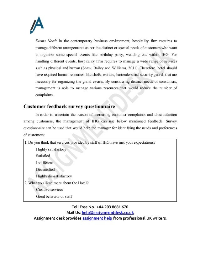 Report on Customer Service policy