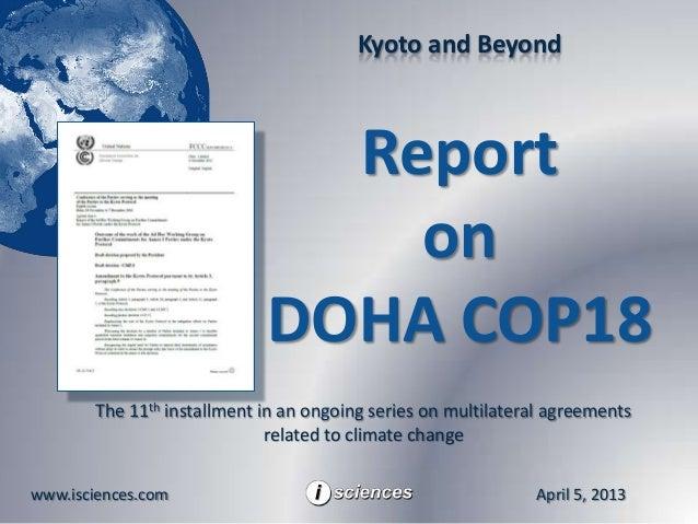 Kyoto and Beyond                               Report                                 on                             DOHA ...