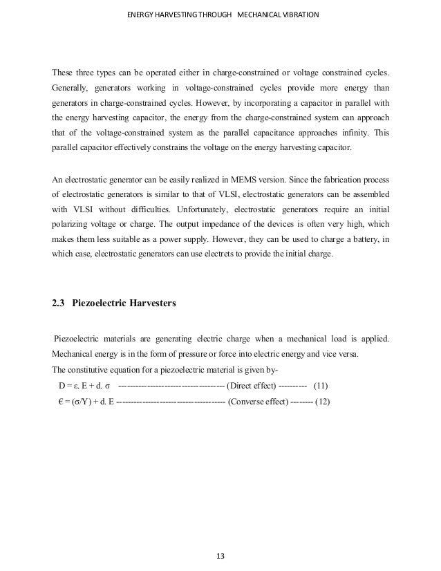Vibrations Based Energy Harvesting (2)