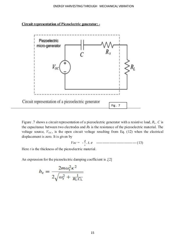 Energy harvesting from mechanical vibrations