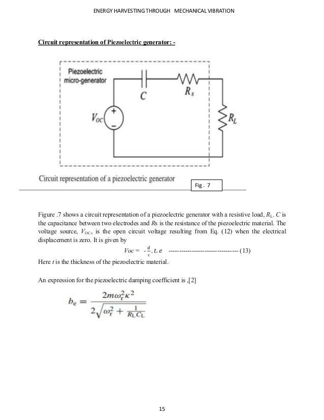 Energy Harvesting (generators/transducers)