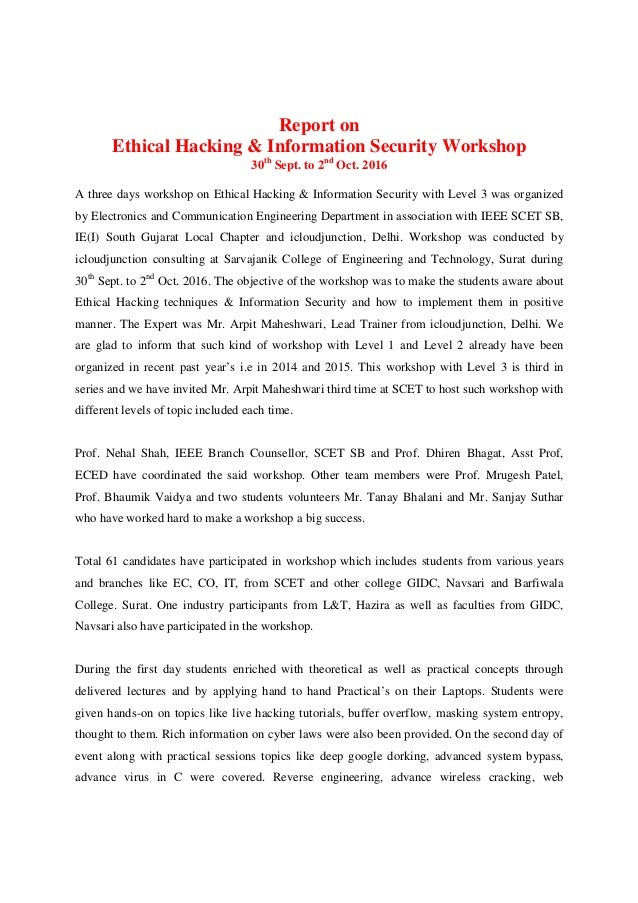 report on ethical hacking oct 2016