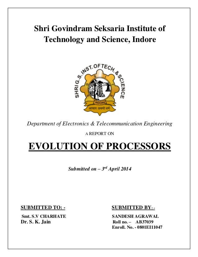 Shri Govindram Seksaria Institute of Technology and Science, Indore Department of Electronics & Telecommunication Engineer...