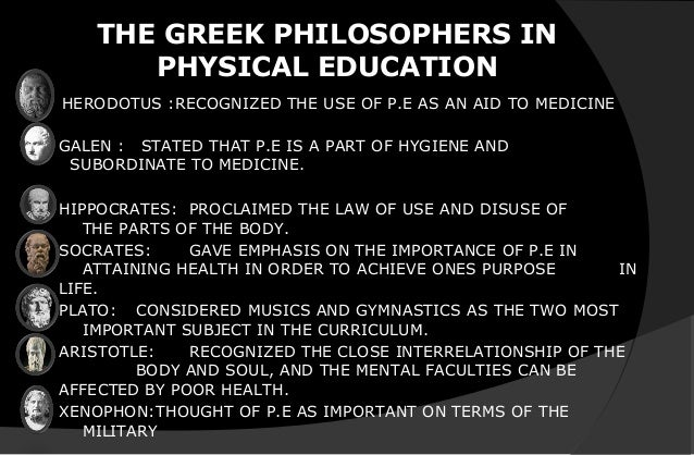 philosophy of physical education samples