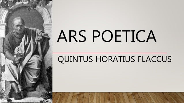 report on horace s ars poetica