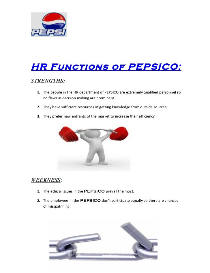 Report on hrm function related to pepsico