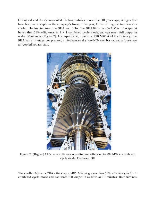 Report on improved efficiency of gas turbine final