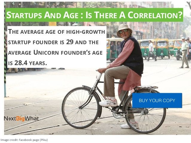 STARTUPS AND AGE : IS THERE A CORRELATION? THE AVERAGE AGE OF HIGH-GROWTH STARTUP FOUNDER IS 29 AND THE AVERAGE UNICORN FO...