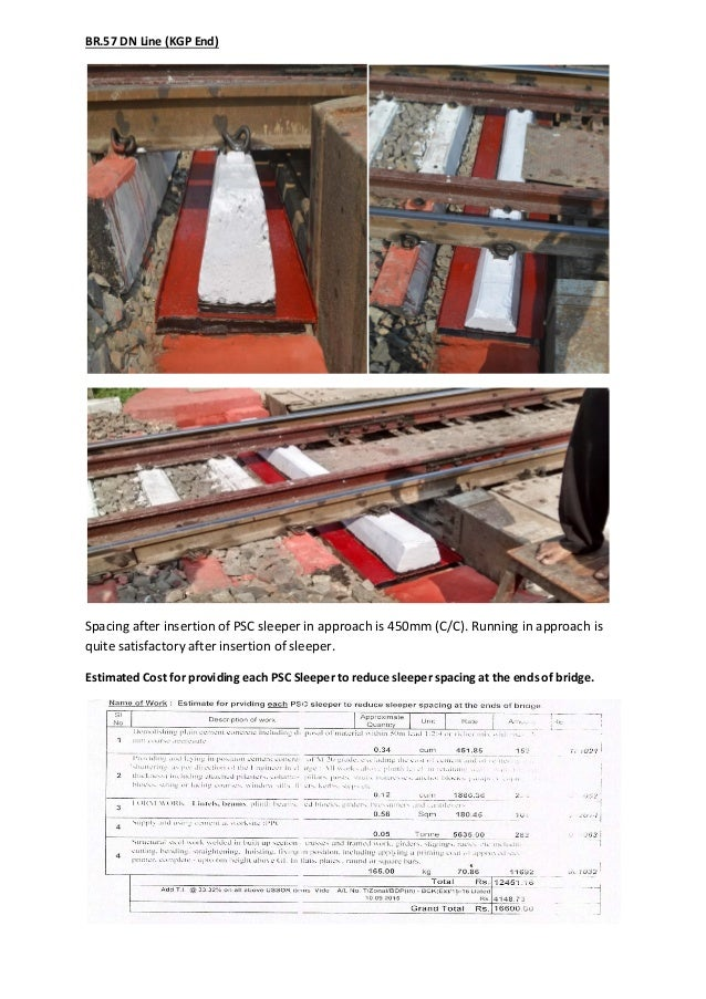 Report On Insertion Of Br Approach Sleeper To