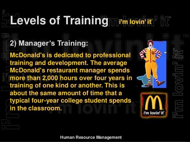 report on mcdonald s hr management rh slideshare net Tye McDonald Training McDonald's Register Training