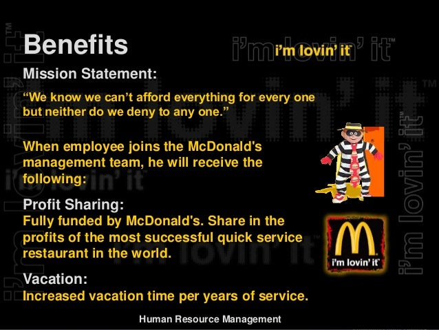 HR Assignment on: HR management in McDonald's