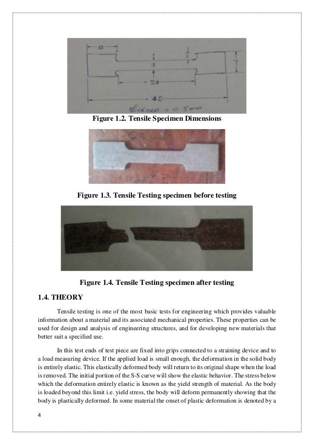 How To Use Vernier Caliper >> Tensile, Impact and Hardness Testing of Mild Steel