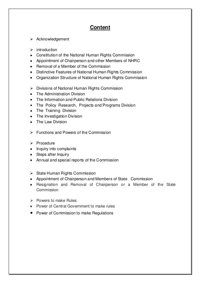 essay on national human rights commission If you are the victim of discrimination under the act, you can file a complaint with the canadian human rights commission national or ethnic origin, colour.