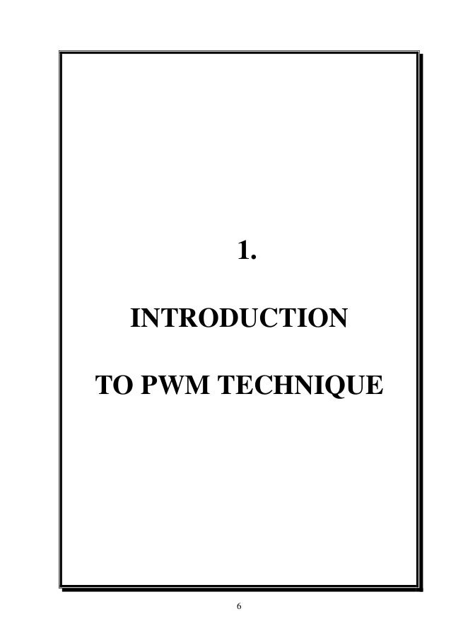 Report on speed control of d.c. motor using pwm method