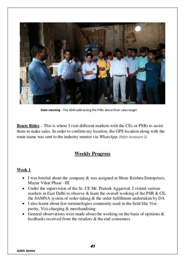 Report on 7UP REVIVE @ Varun beverages ltd, PepsiCo India