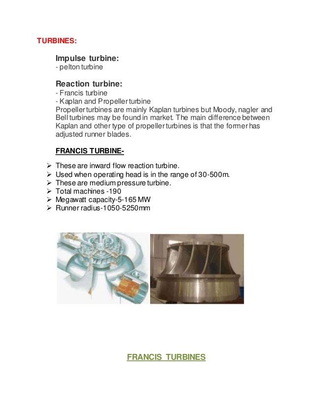 report on water turbine manufacturing rh slideshare net Hydraulic Turbine Water Turbine Generator