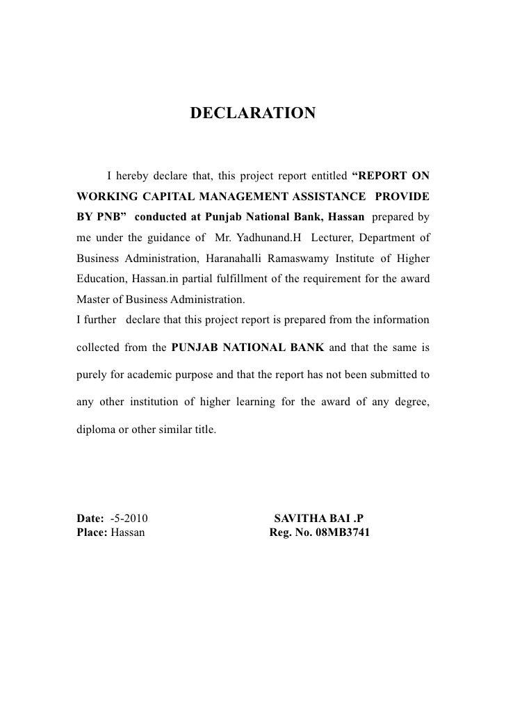 Bank declaration letter format letter of declaration format best bank declaration letter format self declaration letter format proof of in e letter template 7 documents altavistaventures Choice Image