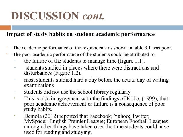 The Effects of Study Habit on the Academic Performance of ...
