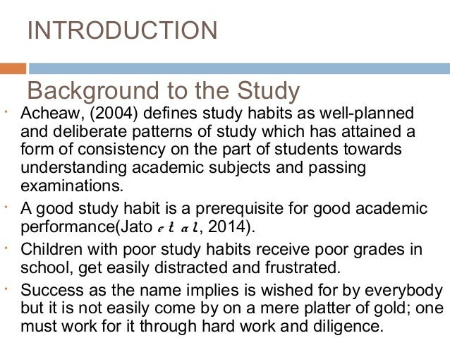 background study of academic performance