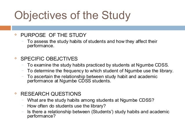 effects of study habits on academic