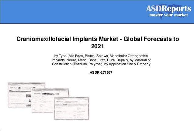 Craniomaxillofacial Implants Market - Global Forecasts to 2021 by Type (Mid Face, Plates, Screws, Mandibular Orthognathic ...