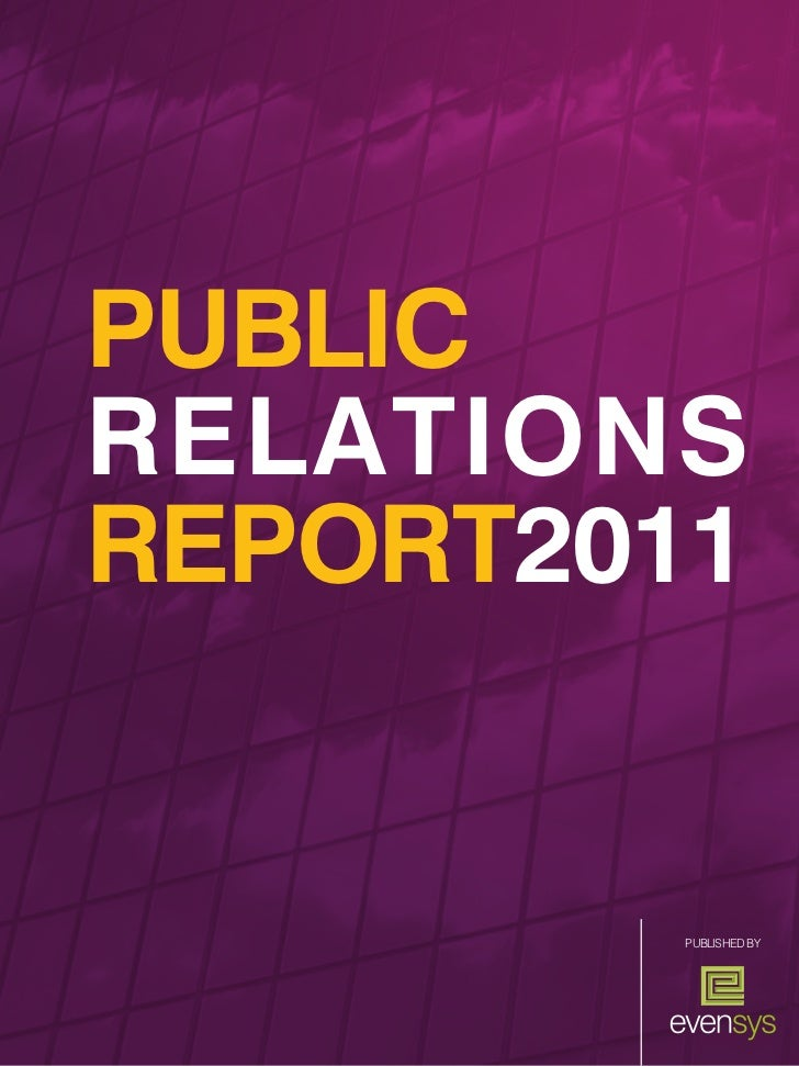 PUBLICRELATIONSREPORT2011         PUblished by