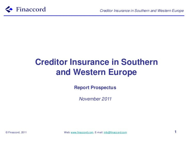 Creditor Insurance in Southern and Western Europe                    Creditor Insurance in Southern                       ...