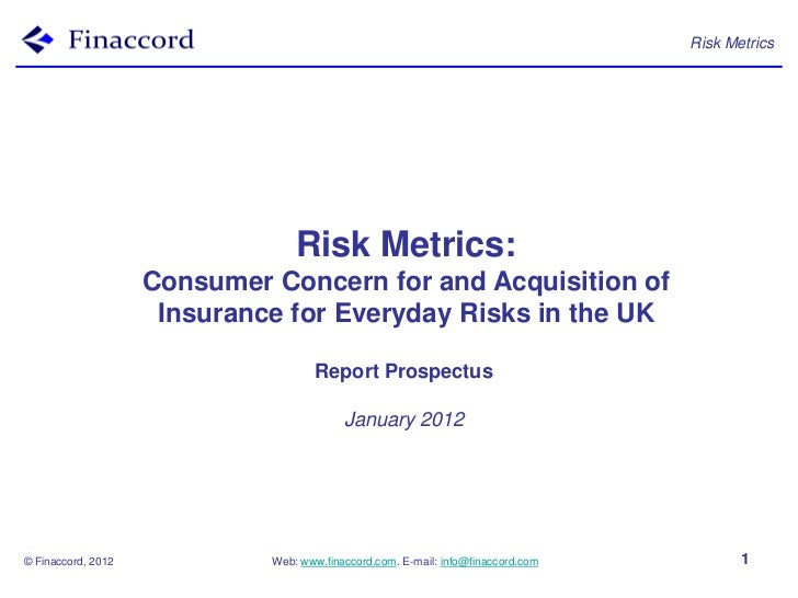 Risk Metrics                                 Risk Metrics:                    Consumer Concern for and Acquisition of     ...