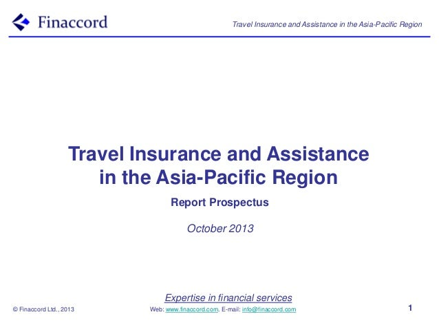 Travel Insurance and Assistance in the Asia-Pacific Region  Travel Insurance and Assistance in the Asia-Pacific Region Rep...