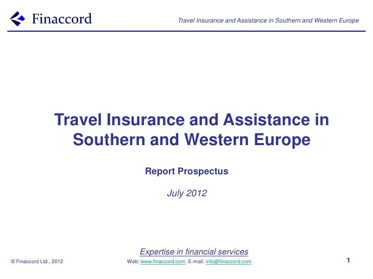 Travel Insurance and Assistance in Southern and Western Europe                  Travel Insurance and Assistance in        ...
