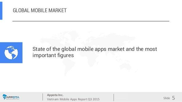Appota Inc. Vietnam Mobile Apps Report Q3 2015 Source: Slide GLOBAL MOBILE MARKET 5 State of the global mobile apps market...
