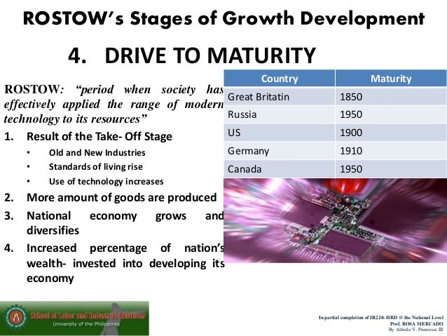 rostows theory of economic development Under this theory, economic growth was measured by  the process of economic development  critical analysis of rostow's growth theory with reference to pakistan.