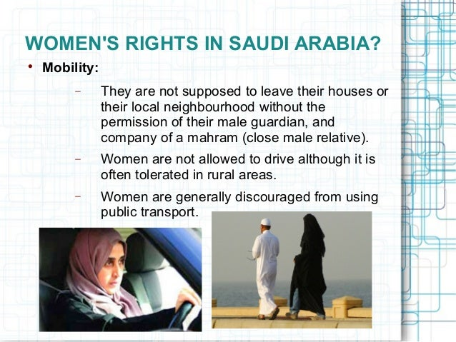 womens rights in saudi arabia essay Teaching women's rights from past to present this essay attempts to help rectify the narrow and unexamined view of female suffrage like saudi arabia.