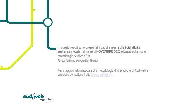 Report scenario online - dati Audiweb Novembre 2020 Slide 2