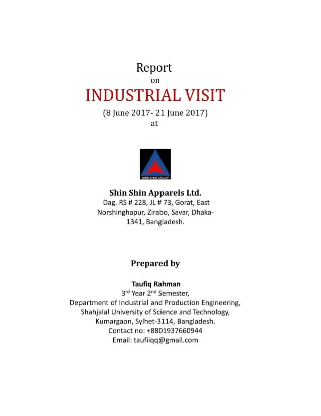 Report on Industrial Visit at Shin Shin Group
