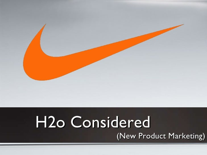 H2o Considered (New Product Marketing)
