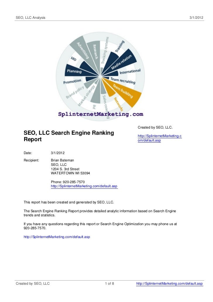 SEO, LLC Analysis                                                                                            3/1/2012     ...