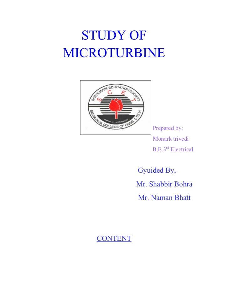 Report=study of micro turbine