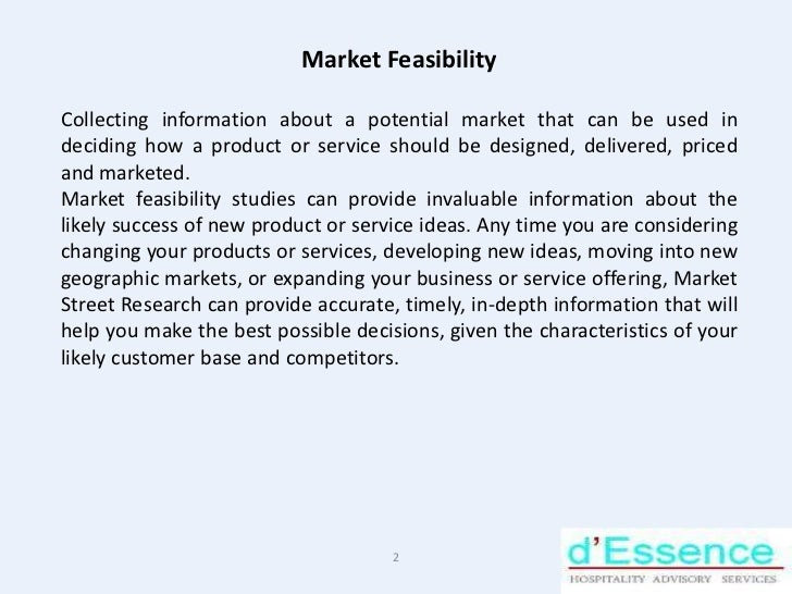 Hotel feasibility study ppt