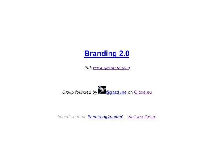 """Il """"best of"""" del Live Twitting del convegno Branding 2.0 - edizione 2012"""