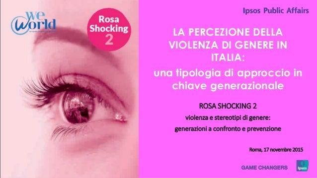 1 © 2015 Ipsos. LA PERCEZIONE DELLA VIOLENZA DI GENERE IN ITALIA: una tipologia di approccio in chiave generazionale ROSA ...