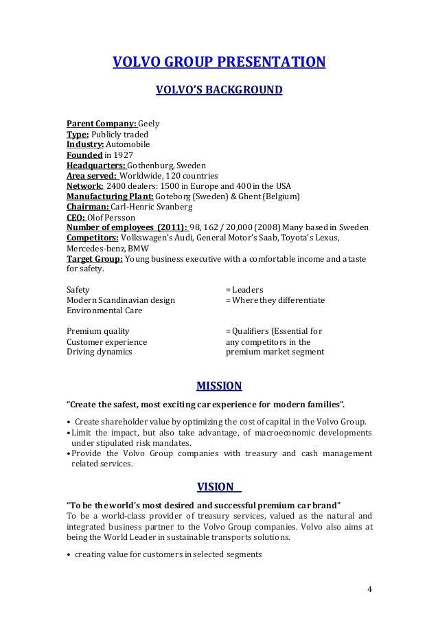 Volvo Company Training Repoart