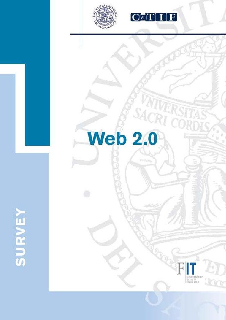 Web 2.0        Report dell'indagine CeTIF         Web 2.0REPORT DELL'INDAGINE CeTIF                                     Do...