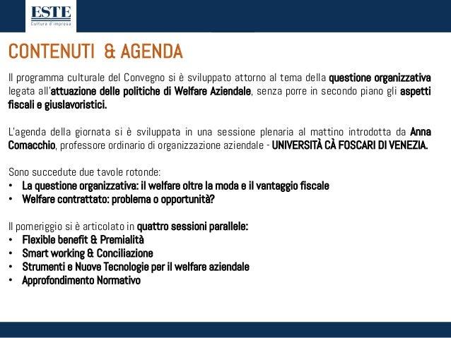Convegno WELFARE AZIENDALE - Padova, 8 febbraio 2017 Slide 2